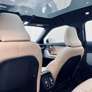 Polestar 2, Interior, Rear — San Francisco Pop-Up